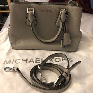 Michael Kors mini satchel comes with lock